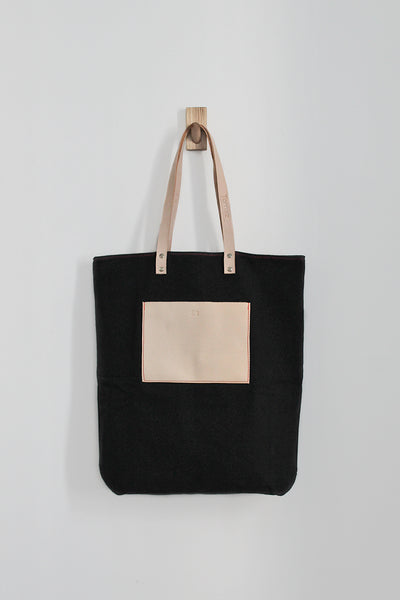 Maximini - Sophisticated Tote Bag in Cotton / Black
