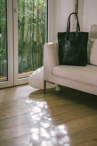 Maximini - Sophisticated Tote Bag in Black Leather
