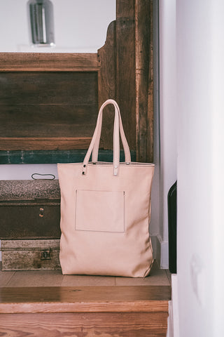 Maximini - Sophisticated Tote Bag in Leather / Natural