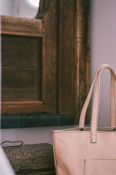 Maximini - Sophisticated Tote Bag in Natural Leather