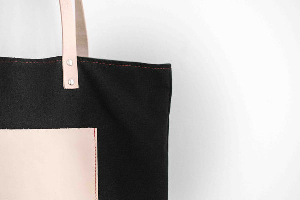 A sophisticated and multitask tote bag in black to carry around all the items one needs on a long day. Made with Portuguese materials. All products are numbered and unique.