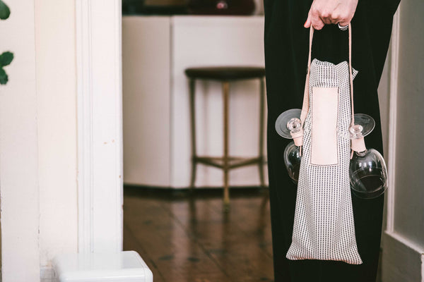 Cheers - Wine Tote Bag in Black & White