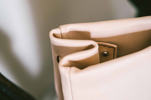 Francis - The Classic Petit Handbag in Natural Leather