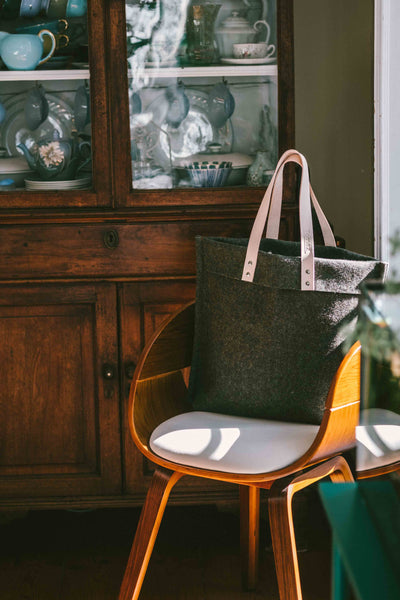 STYLISH (& COZY) | casual tote bag _ forest green