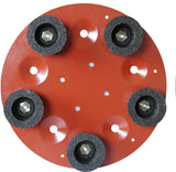 Discs With Five Silicon Carbide Abrasive Grindstones