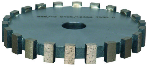 RM04 179BU16SC Flat 90°edge Wheel (h18mm Segments) For Milling