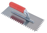 Rubber Handle V11mm Notched Trowel Size 28x12cm