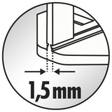 Raimondi clips giving a 1.5 mm joint
