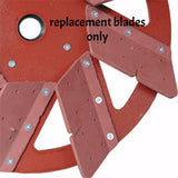 RM08 272 8 REPLACEMENT RUBBER GROUTING BLADES SET OF 8