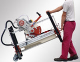 Zoe 105 tile bridge saw on wheels