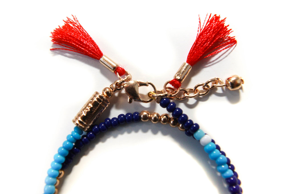 Twice as nice tassel bracelet