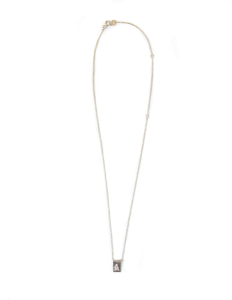 Buddha-ful scroll long necklace - silver