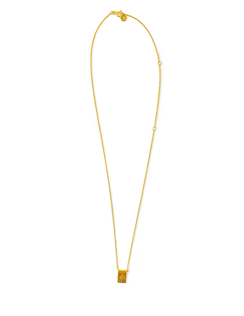 Om scroll necklace - gold