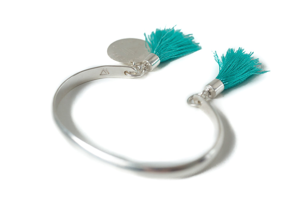 Brighten-up tassel bracelet