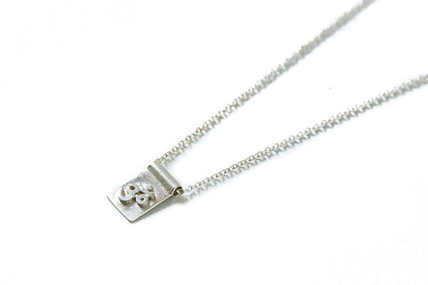 Om scroll necklace - silver