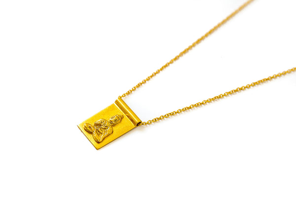 Buddha-ful scroll long necklace - gold