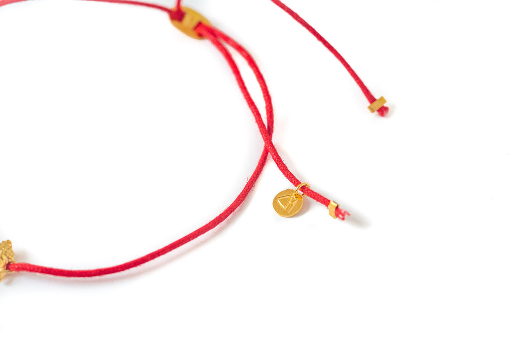 Buddha-ful bracelet red & gold