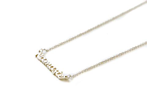 Namaste necklace - silver