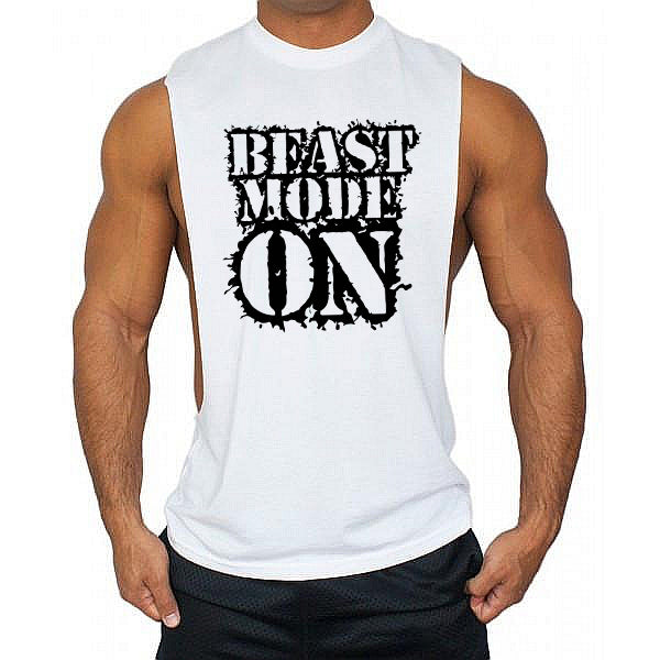 Beast mode on Low cut Vest - Urbantshirts.co.uk