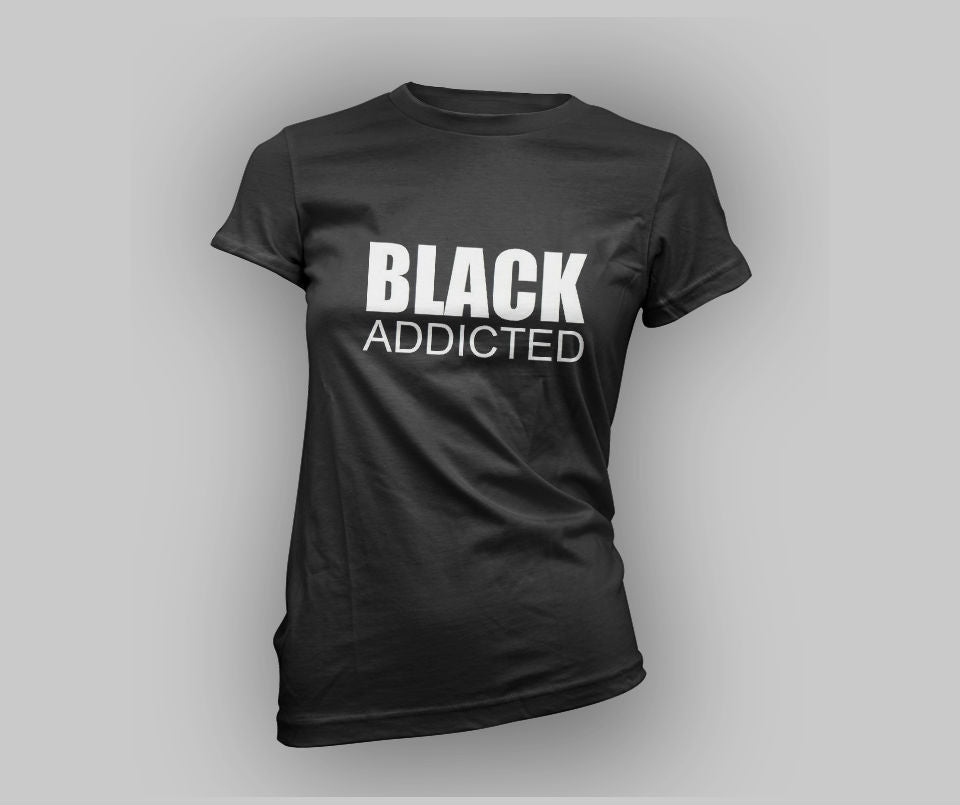 Black Addicted T-shirt - Urbantshirts.co.uk