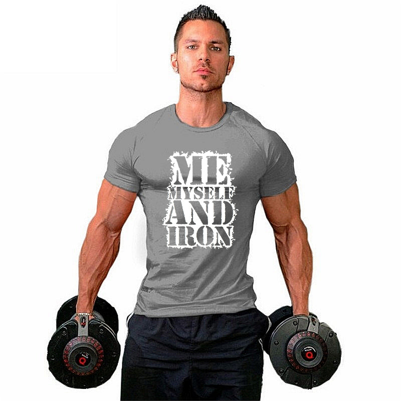 Me , myself and iron T-shirt - Urbantshirts.co.uk