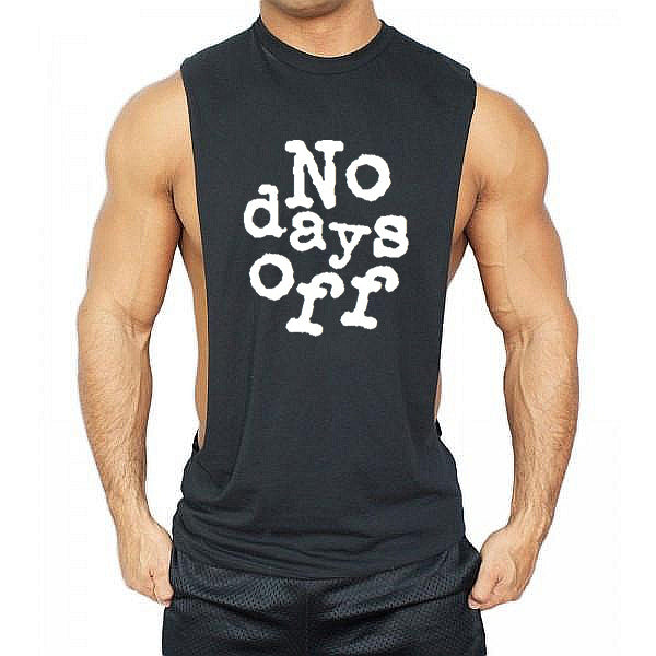 No days off Low cut Vest - Urbantshirts.co.uk
