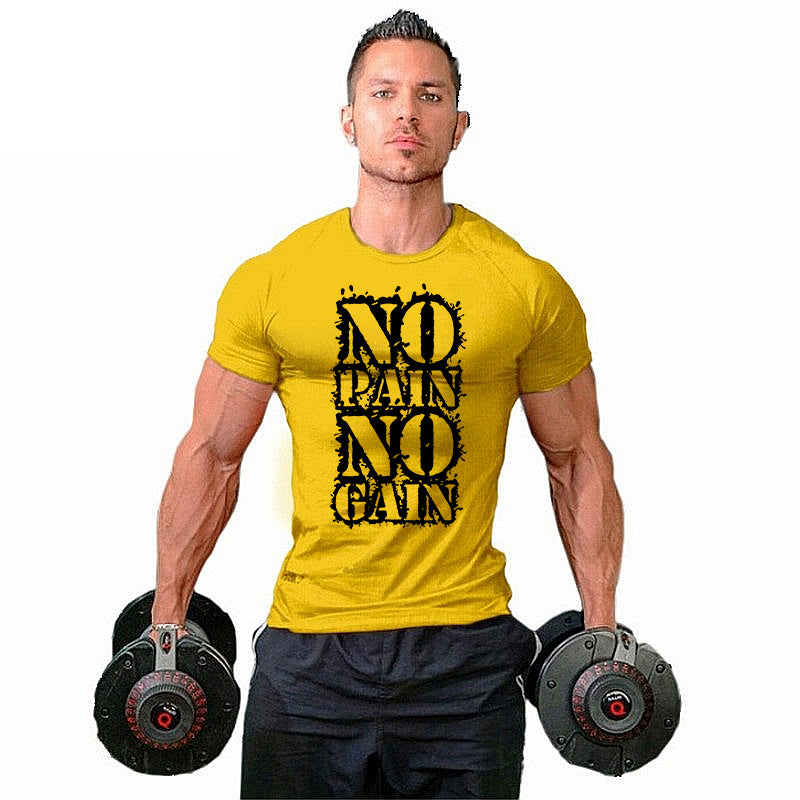 No pain no gain T-shirt - Urbantshirts.co.uk