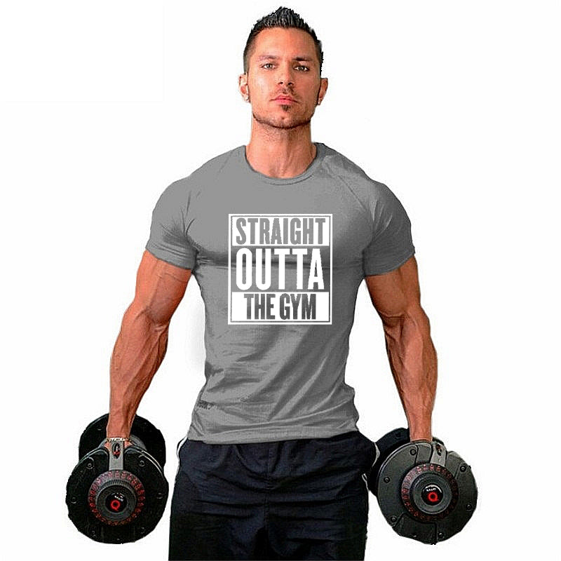 Straight outta the gym T-shirt - Urbantshirts.co.uk