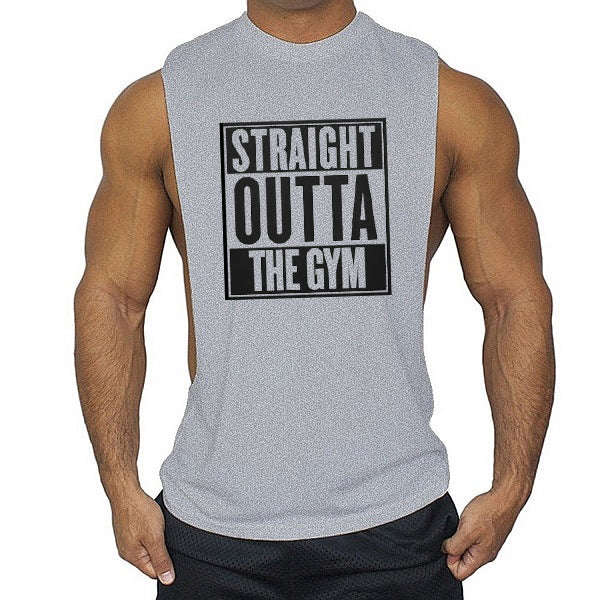 Straight outta the gym Low cut Vest - Urbantshirts.co.uk