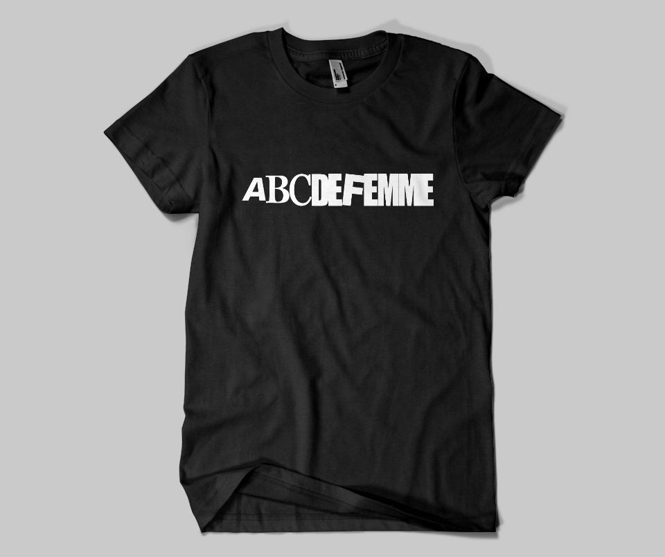ABCDEFEMME T-shirt - Urbantshirts.co.uk