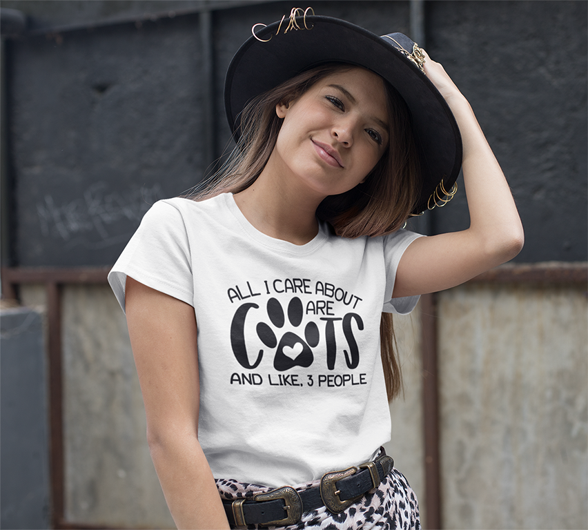 All I care about are Cats T-shirt - Urbantshirts.co.uk