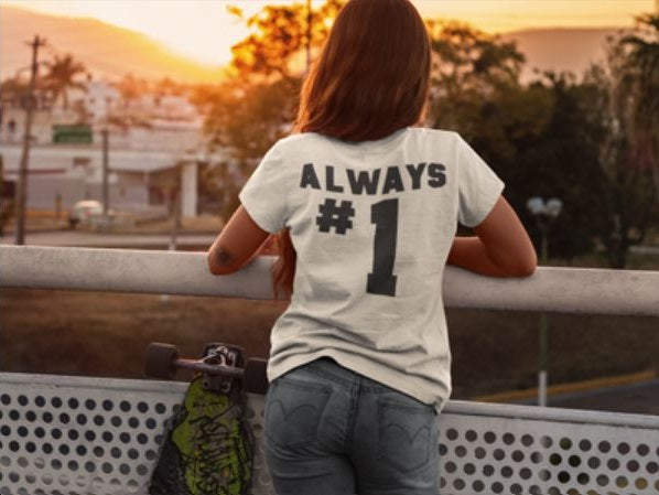 Always #1 T-shirt - Urbantshirts.co.uk