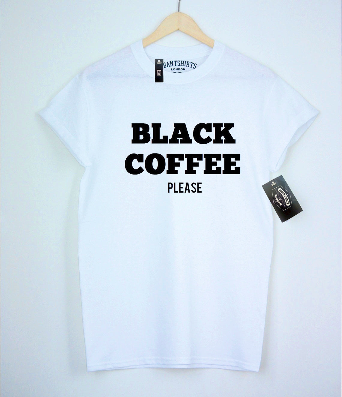 Black Coffee Please T-shirt - Urbantshirts.co.uk