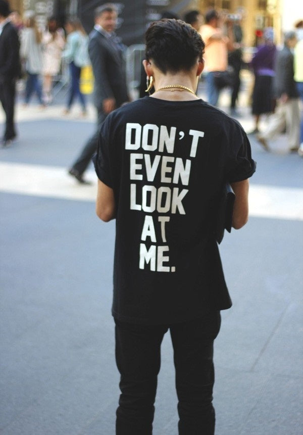 Don't even look at me T-shirt - Urbantshirts.co.uk