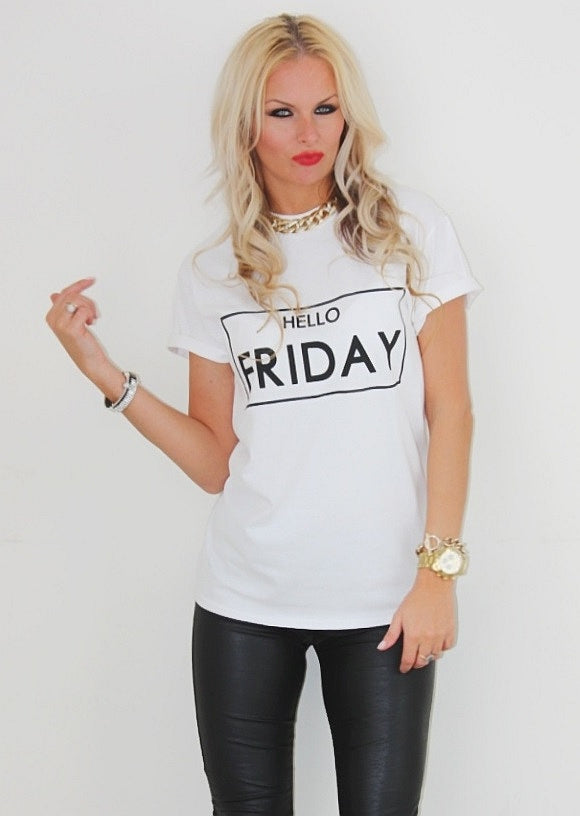Hello Friday T-shirt - Urbantshirts.co.uk