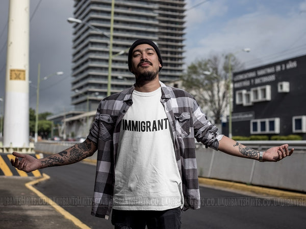 Immigrant T-shirt - Urbantshirts.co.uk