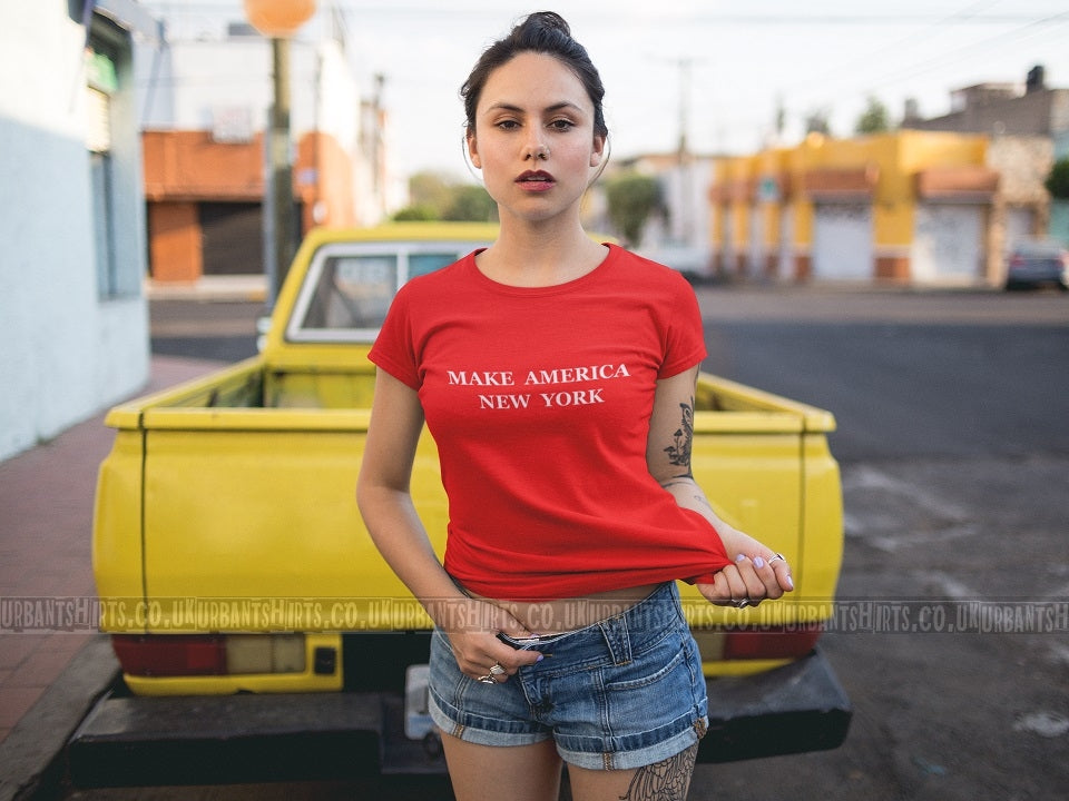 Make America New York T-shirt - Urbantshirts.co.uk