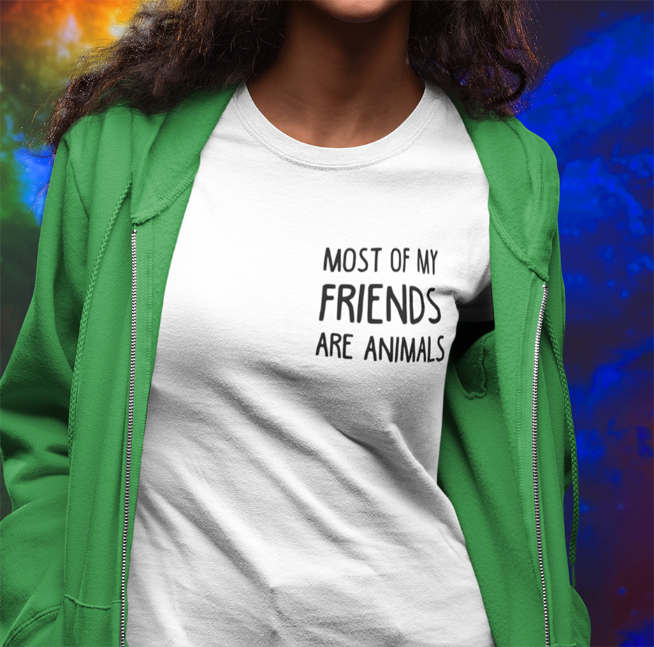 Most of my friends are Animals T-shirt - Urbantshirts.co.uk