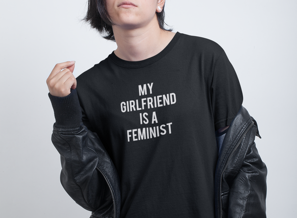 My girlfriend is a Feminist T-shirt - Urbantshirts.co.uk