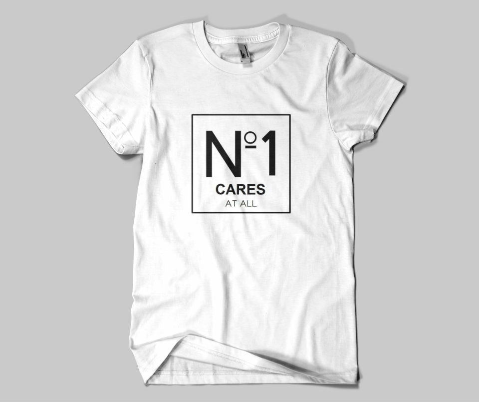 No 1 cares at all T-shirt - Urbantshirts.co.uk