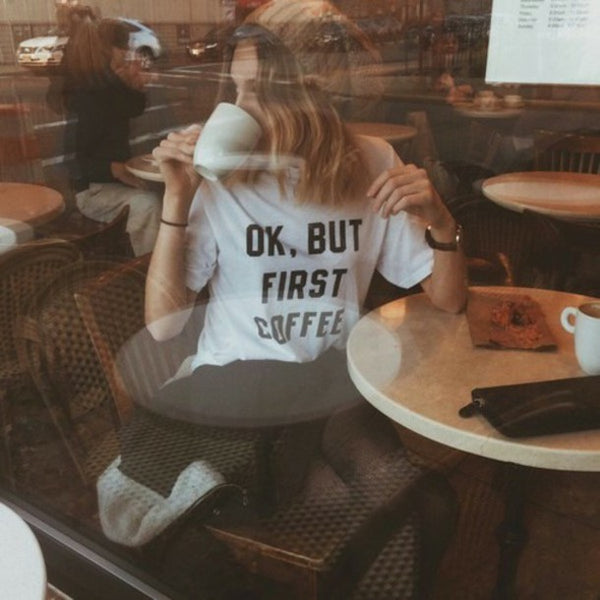 Ok,but first coffee T-shirt - Urbantshirts.co.uk