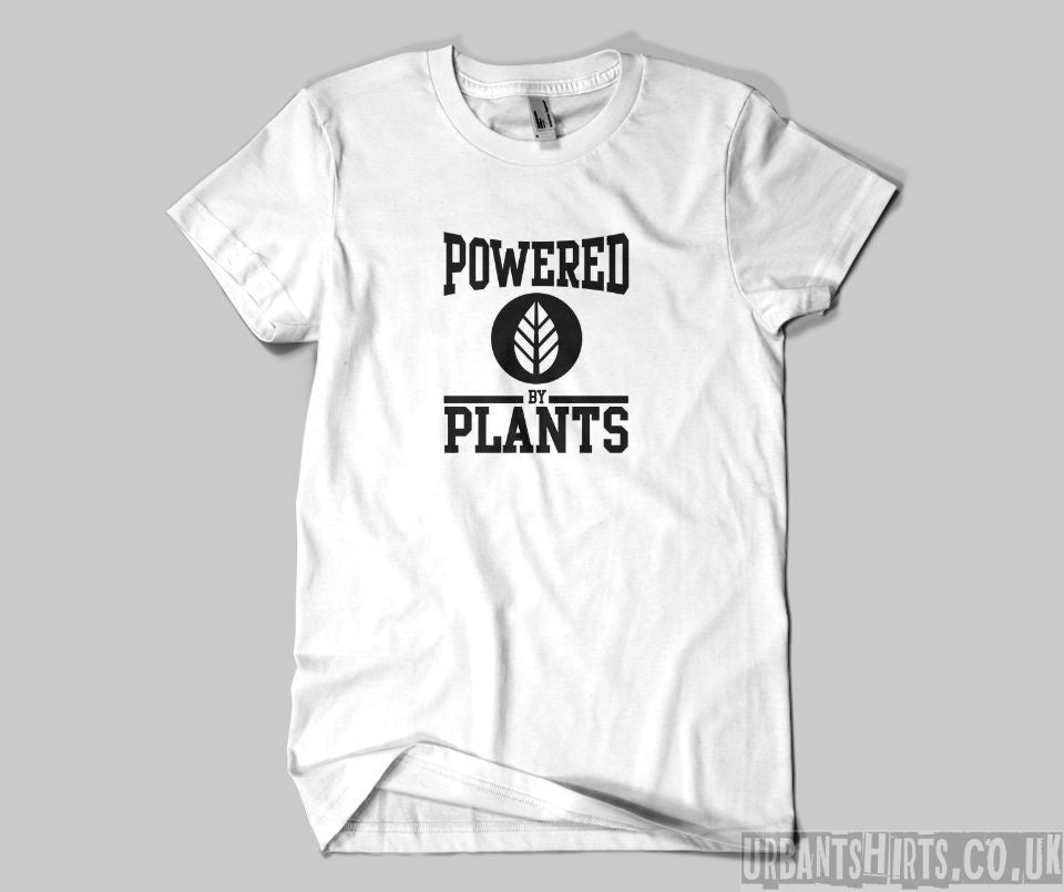 Powered by plants T-shirt - Urbantshirts.co.uk