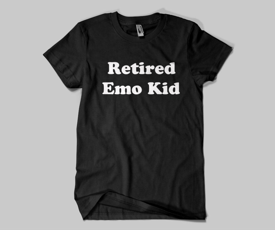 Retired Emo Kid T-shirt - Urbantshirts.co.uk