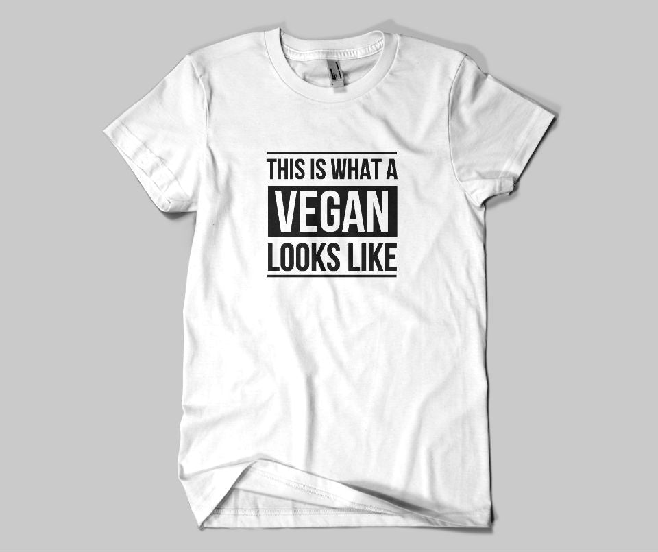 This is what a Vegan looks like T-shirt - Urbantshirts.co.uk