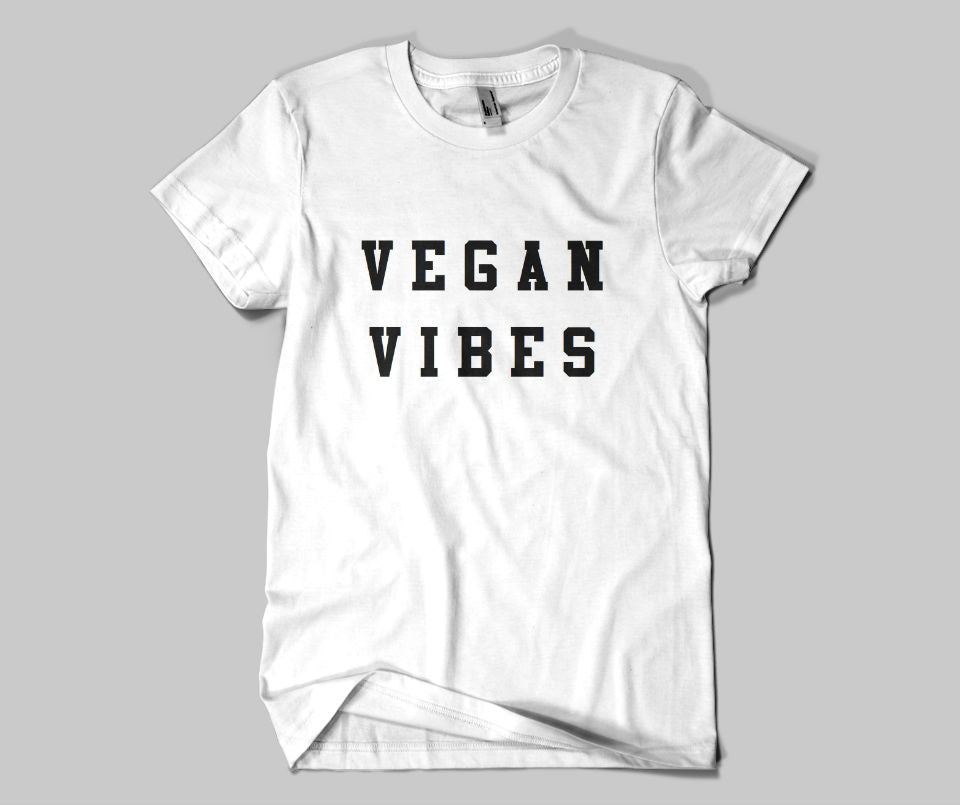Vegan Vibes T-shirt - Urbantshirts.co.uk