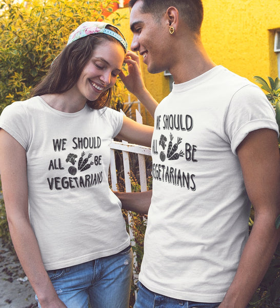 We all should be vegetarians T-shirt - Urbantshirts.co.uk