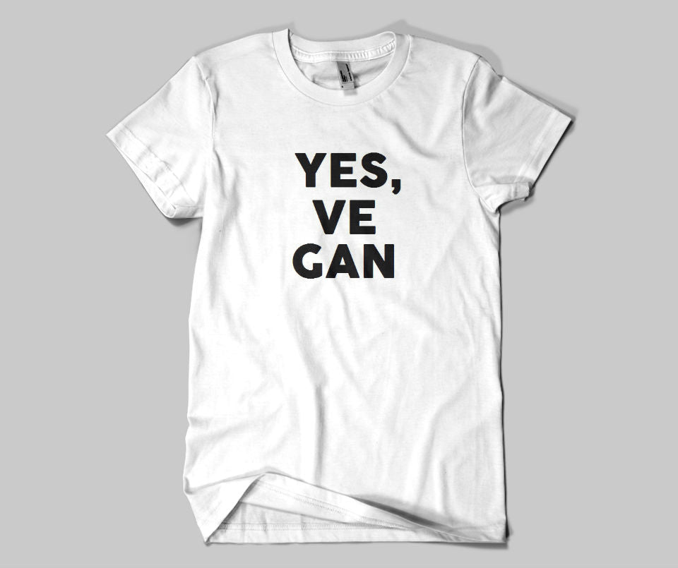 Yes Vegan T-shirt - Urbantshirts.co.uk