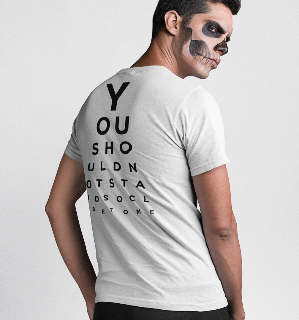 You should not stand so close to me T-shirt - Urbantshirts.co.uk