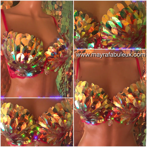 Shattered Crystal Rave Bra