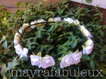 White Rose Flower Halo Crown